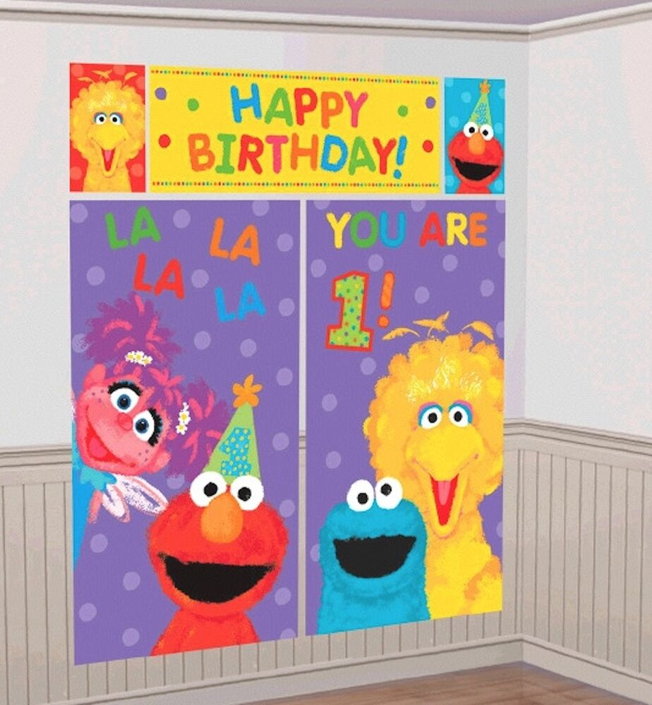 ... 1st Birthday Scene Setter Wall Decoration Kit Party Decorations  eBay