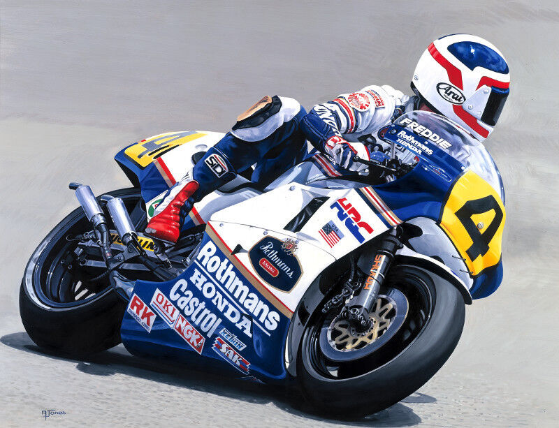 freddie spencer honda nsr 500cc grand prix motorcycle racing motorbike art print ebay. Black Bedroom Furniture Sets. Home Design Ideas