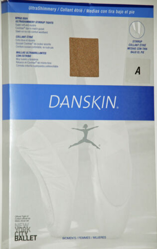 Danskin Tights Ultra Shimmery Stirrup Foot  Adult Sizes - Toast/Light Toast 2331