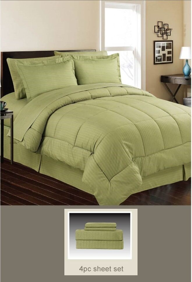 Down Alternative 5 Pc Bed Set Comforter And Sheet Set