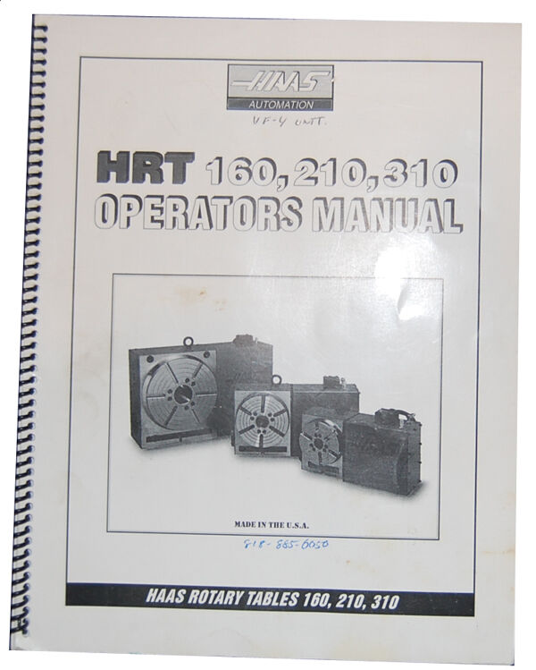 Haas parts manual on