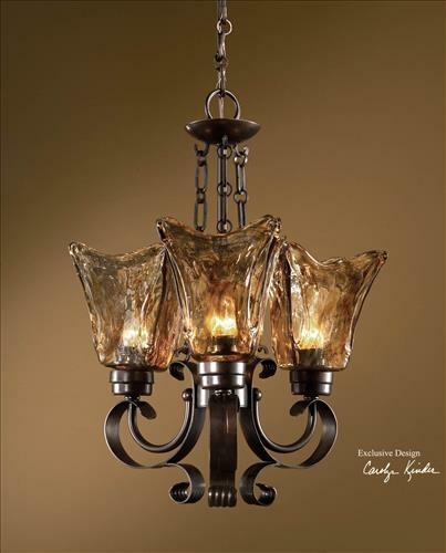20 Quot Iron Amp Glass Hanging Chandelier Ceiling Light