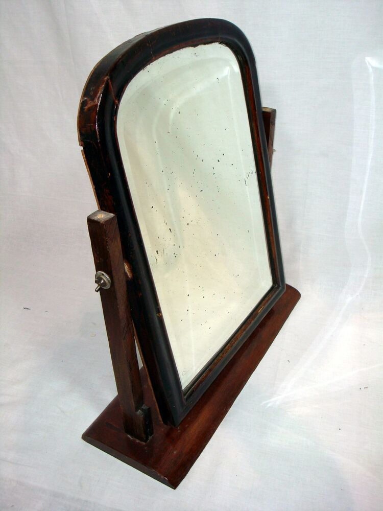 Antique Vintage Large Vanity Dressing Tabletop Shaving