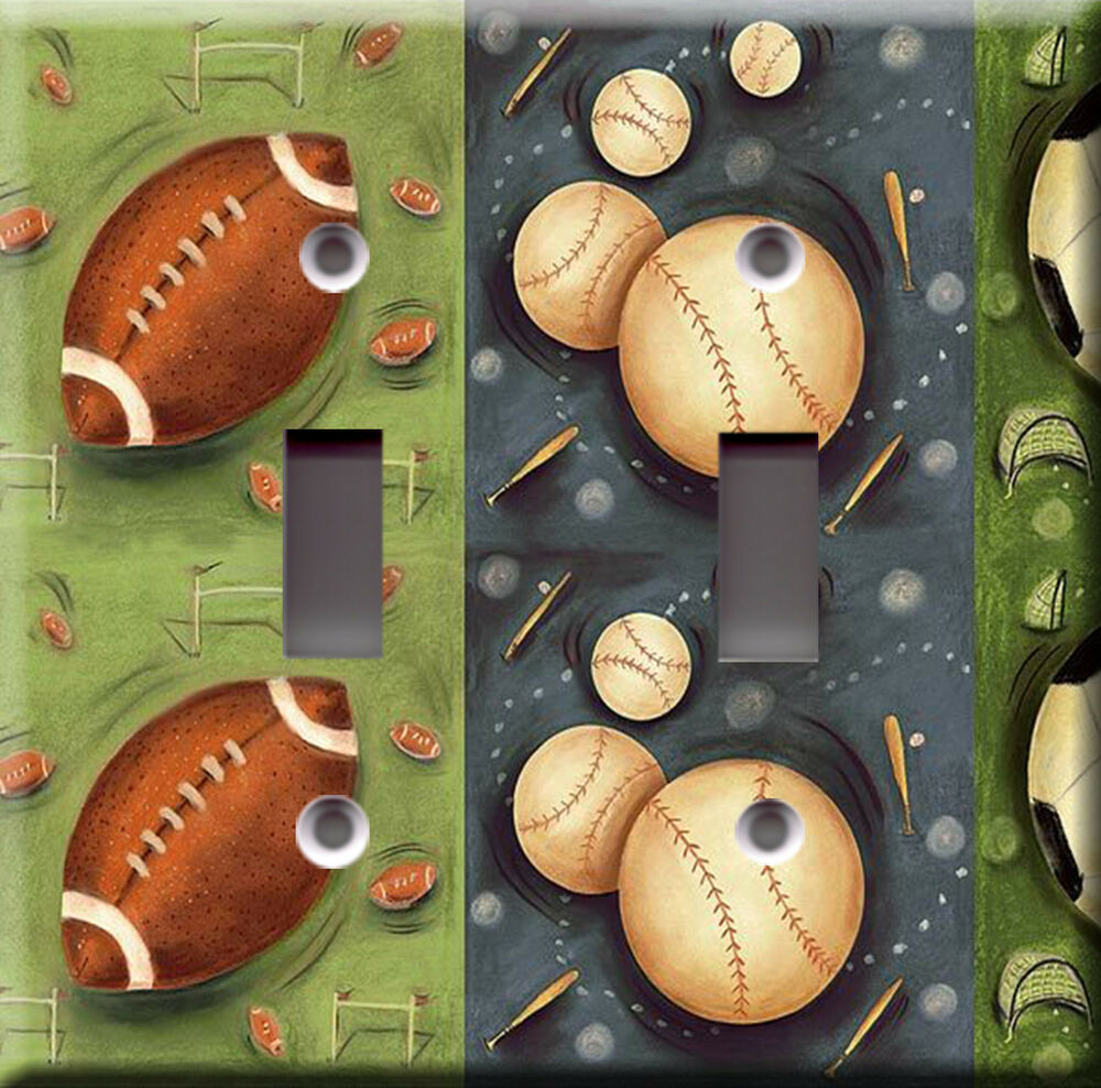 Light Switch Plate Cover Sports Deco Field Football