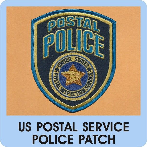 Us postal service police patch mail post courier delivery carrier leo