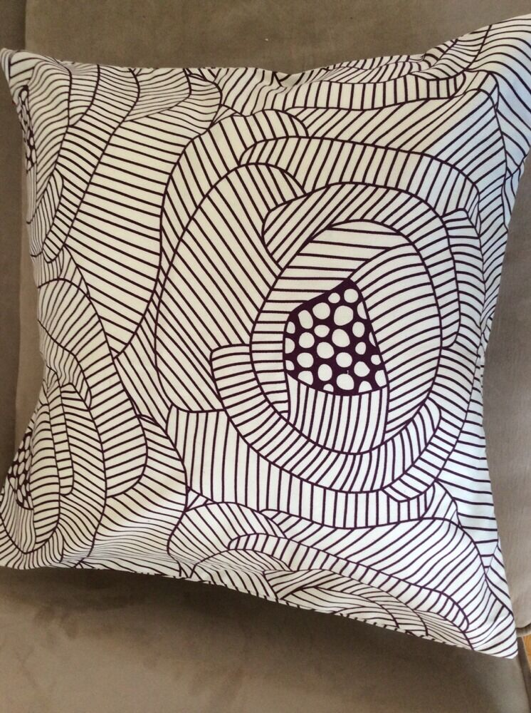 IKEA Custom Ingerlise Fabric White Lilac Throw Pillow Cover Cushion New 20x20