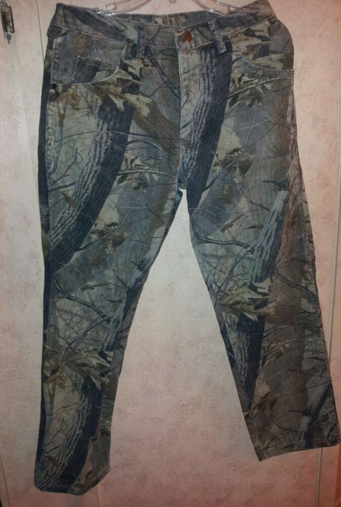 Wrangler Rugged Wear Realtree Camo Pants Jeans 32x30