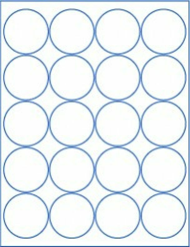 6 Sheets Round Blank 2 Quot Inch White Stickers Sheets