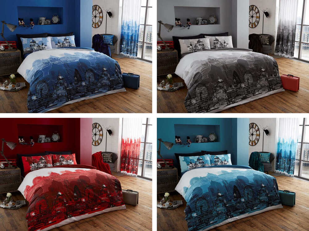 london zoom comforter cover quilt cover bedding set with pillow cases ebay. Black Bedroom Furniture Sets. Home Design Ideas