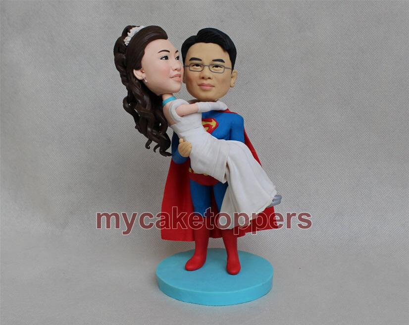 superman and superwoman wedding cake topper custom wedding cake topper superman cake topper and 20613