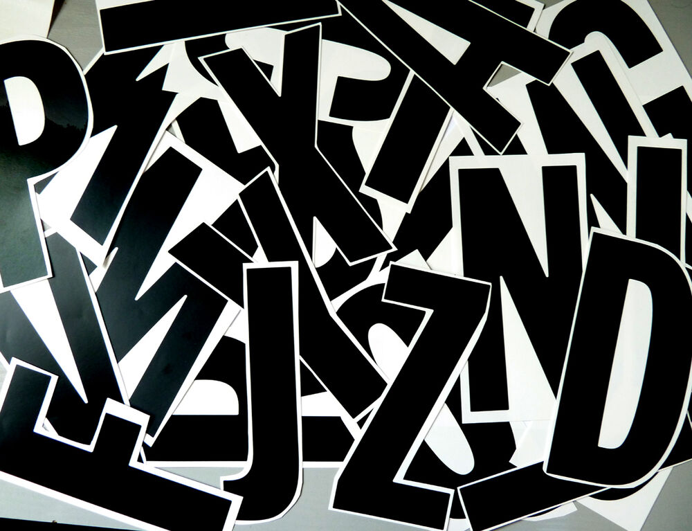 150mm 6quot black sticky vinyl cut out letters lettering for 1 4 inch white vinyl letters
