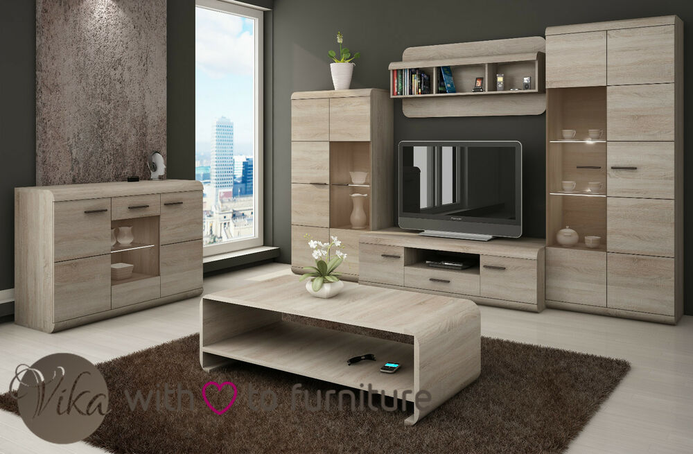 living room furniture wall unit set lucano tv lcd vikafurniture ebay