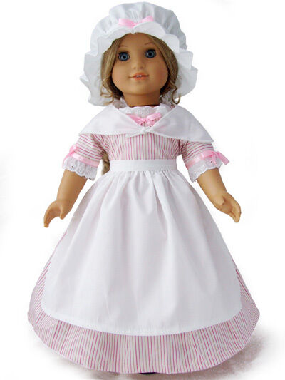 """Doll Clothes AG 18"""" Elizabeth Colonial Dress Made To Fit ..."""