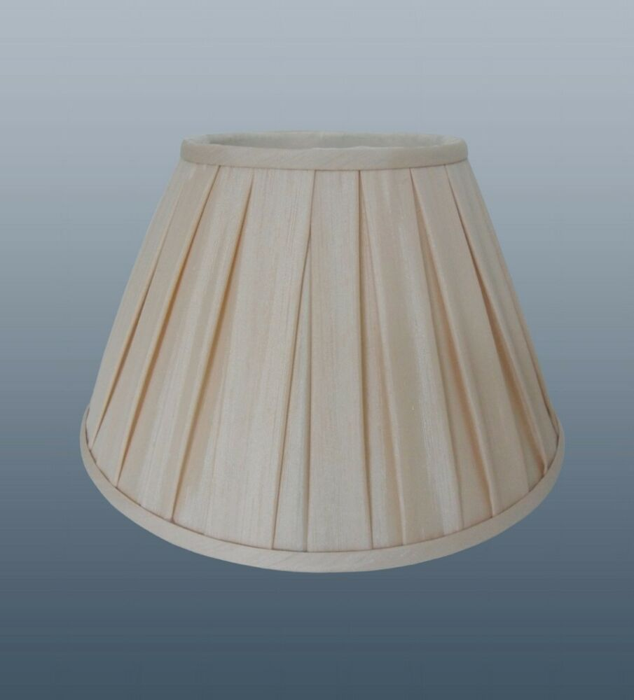 """Pleated Lamp Shades For Table Lamps: ENYA BOX PLEAT 8"""" SHADE IN CREAM COLOUR FOR TABLE LAMP OR"""
