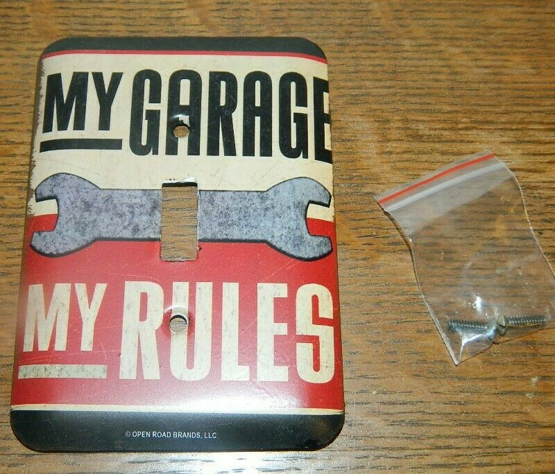 Man Cave Outlet Store : Man cave quot my garage rules single light switch