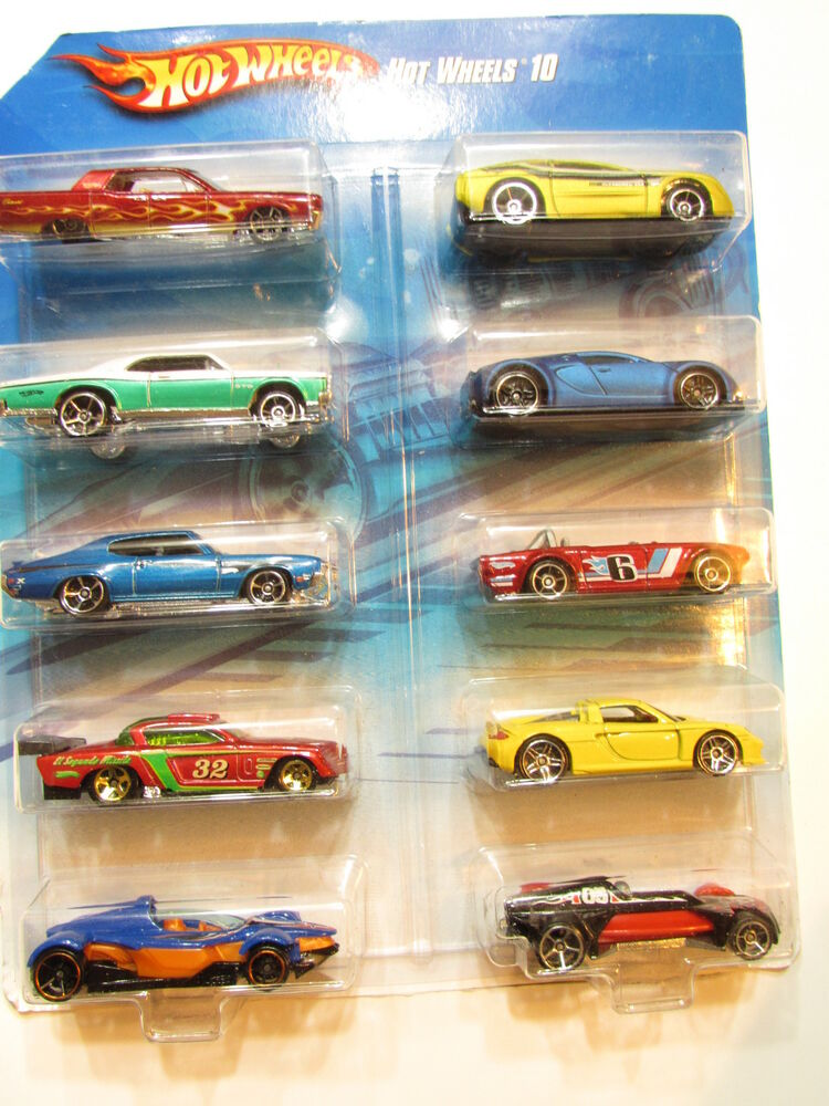 hot wheels 2010 10 car pack bugatti veyron porsche lincoln pontiac buick 27084120134 ebay. Black Bedroom Furniture Sets. Home Design Ideas