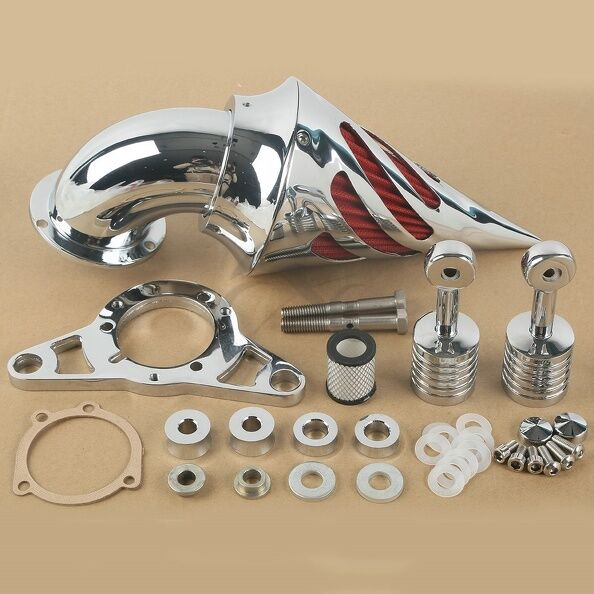 Softail Air Cleaner : New chrome spike air cleaner filter for harley cross bones