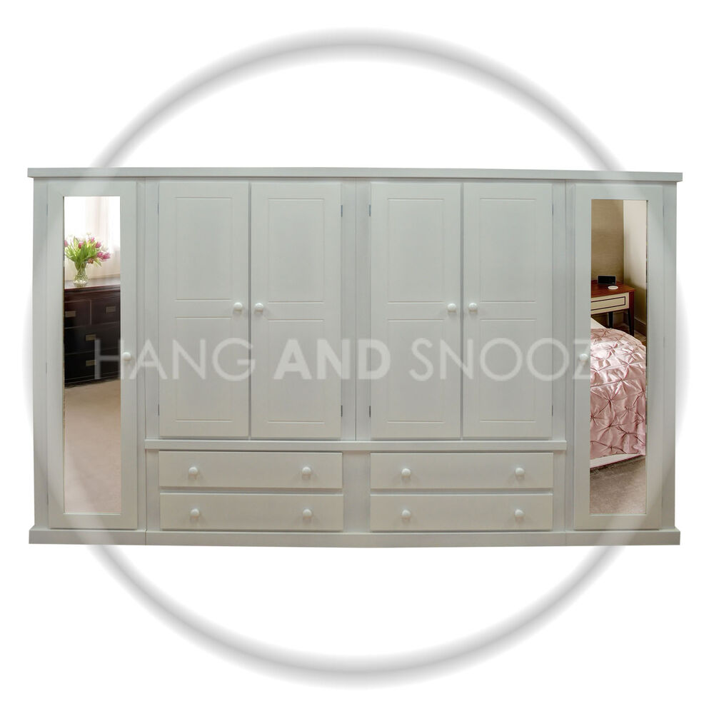 Handmade dewsbury door drawer wardrobe white