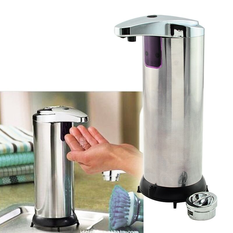 Electric Soap Dispenser ~ Stainless steel handsfree automatic ir sensor touchless