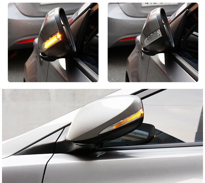 Led Reflector Puddle Lamp Auto Folding Side Mirror For 11
