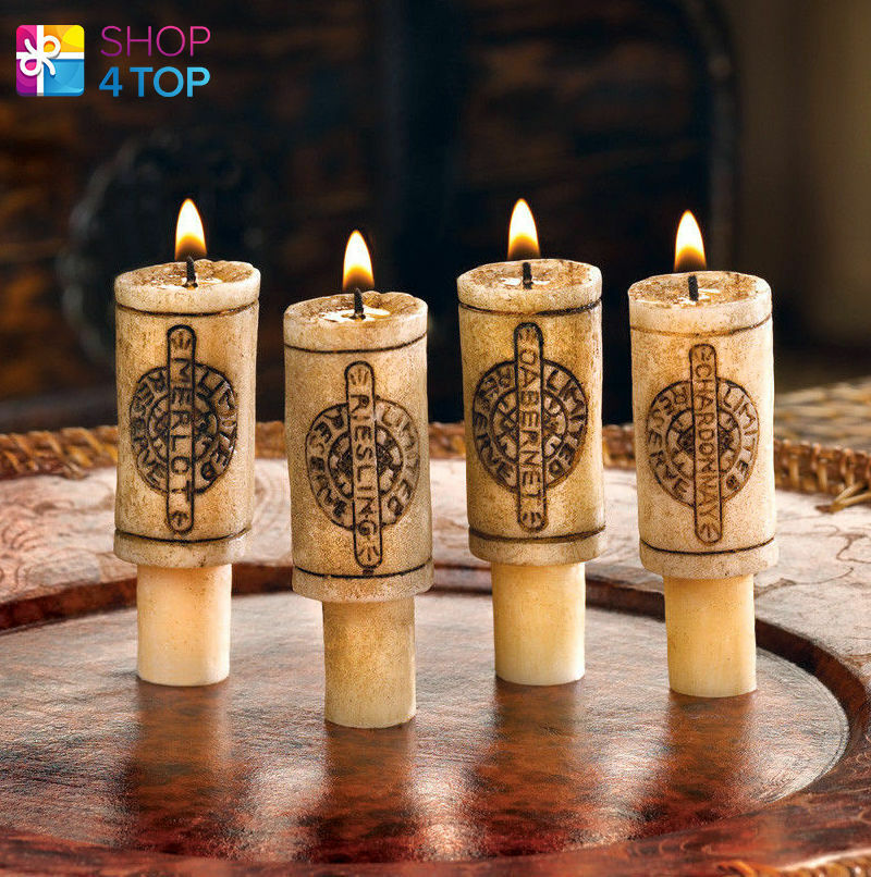 Cork Candles: WINE BOTTLE CORK CANDLES SET ROMANTIC DINNER HOME DECOR