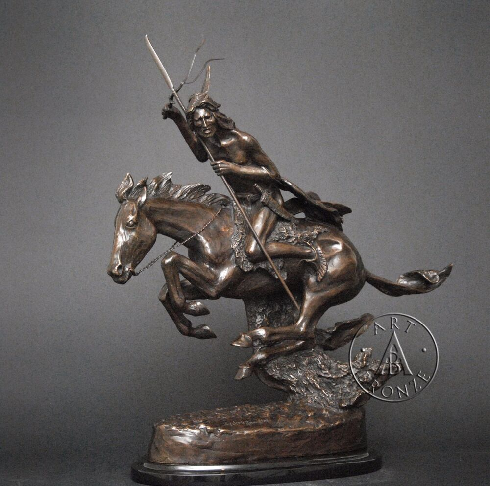"Frederic Remington ""The Cheyenne"" bronze sculpture, finest ..."