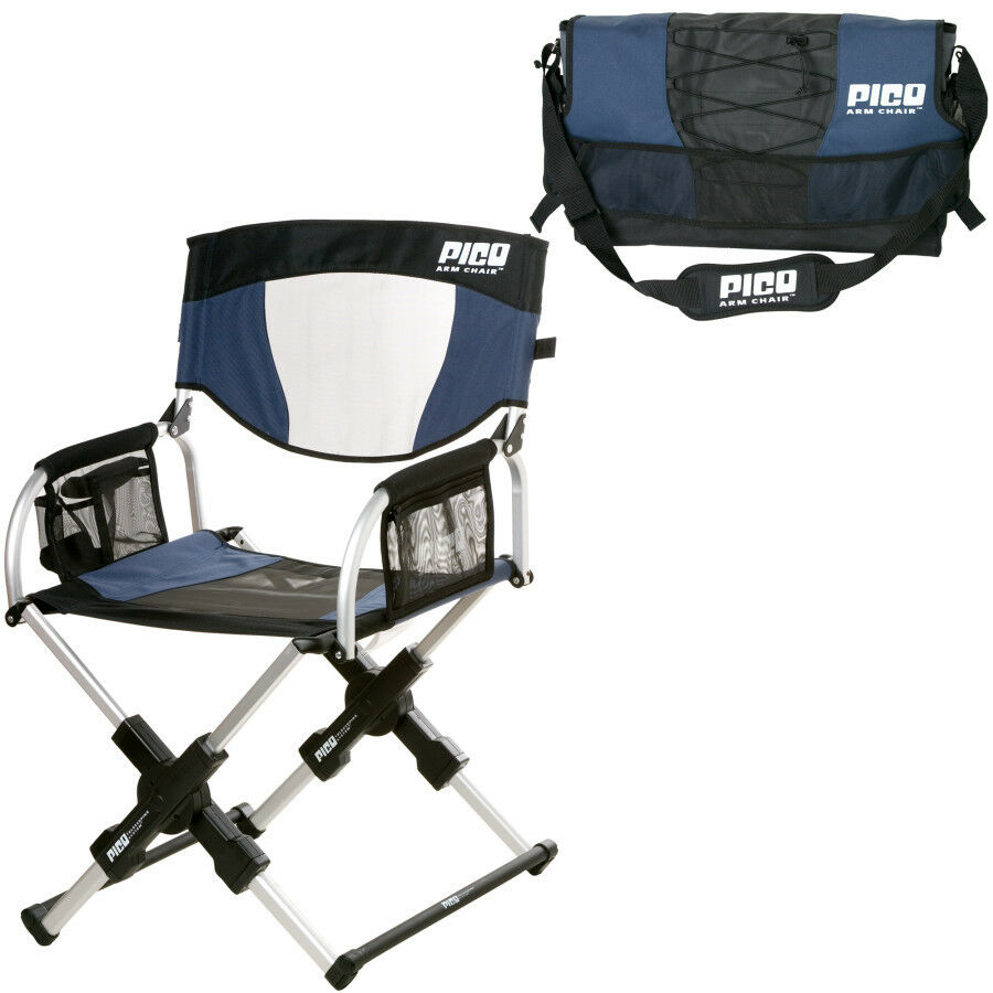 GCI Outdoor Sport Pico Folding Arm Chair Navy Blue pact Portable Durable