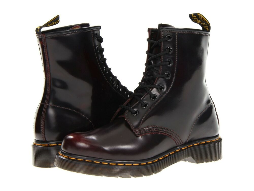 women 39 s shoes dr martens 1460 8 eye boots 13661601 cherry red arcadia new ebay. Black Bedroom Furniture Sets. Home Design Ideas