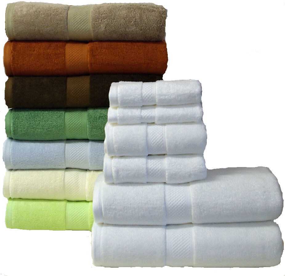 Ultra Soft 6 Piece Silky Bamboo Towel Set, Softest Towels