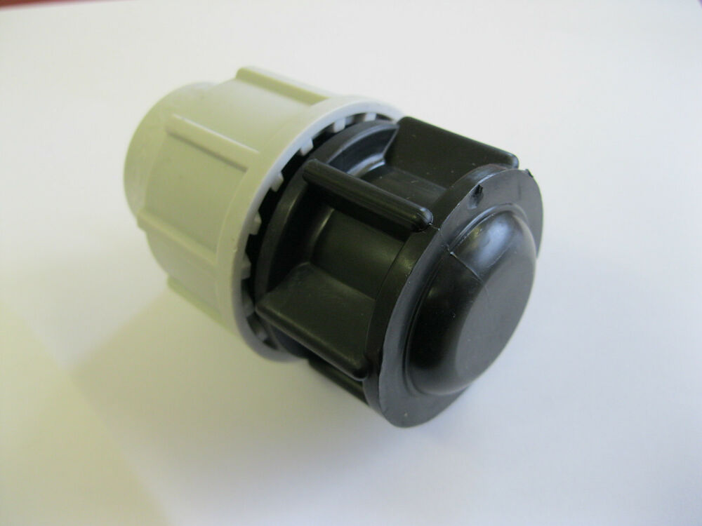 Plasson mm straight mdpe compression water pipe stop end
