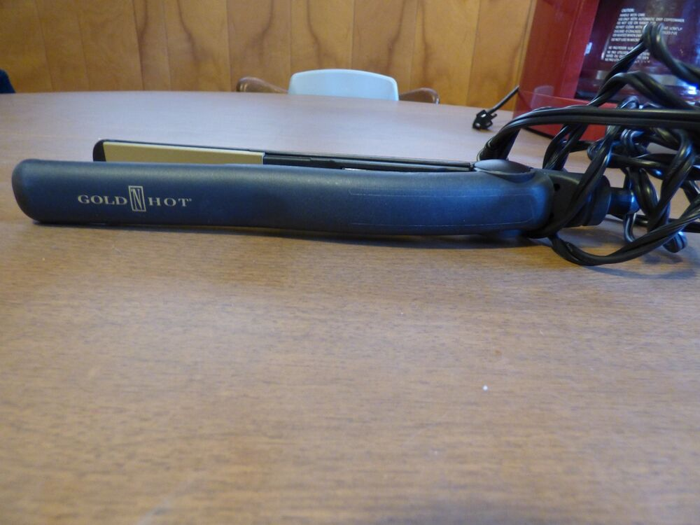 Gold N Hot Flat Iron Straighter Curling 1inch Tourmaline