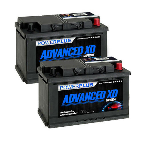 2 x ford transit battery 12v 74ah 750cca super heavy duty for diesel 5 yr pair ebay. Black Bedroom Furniture Sets. Home Design Ideas