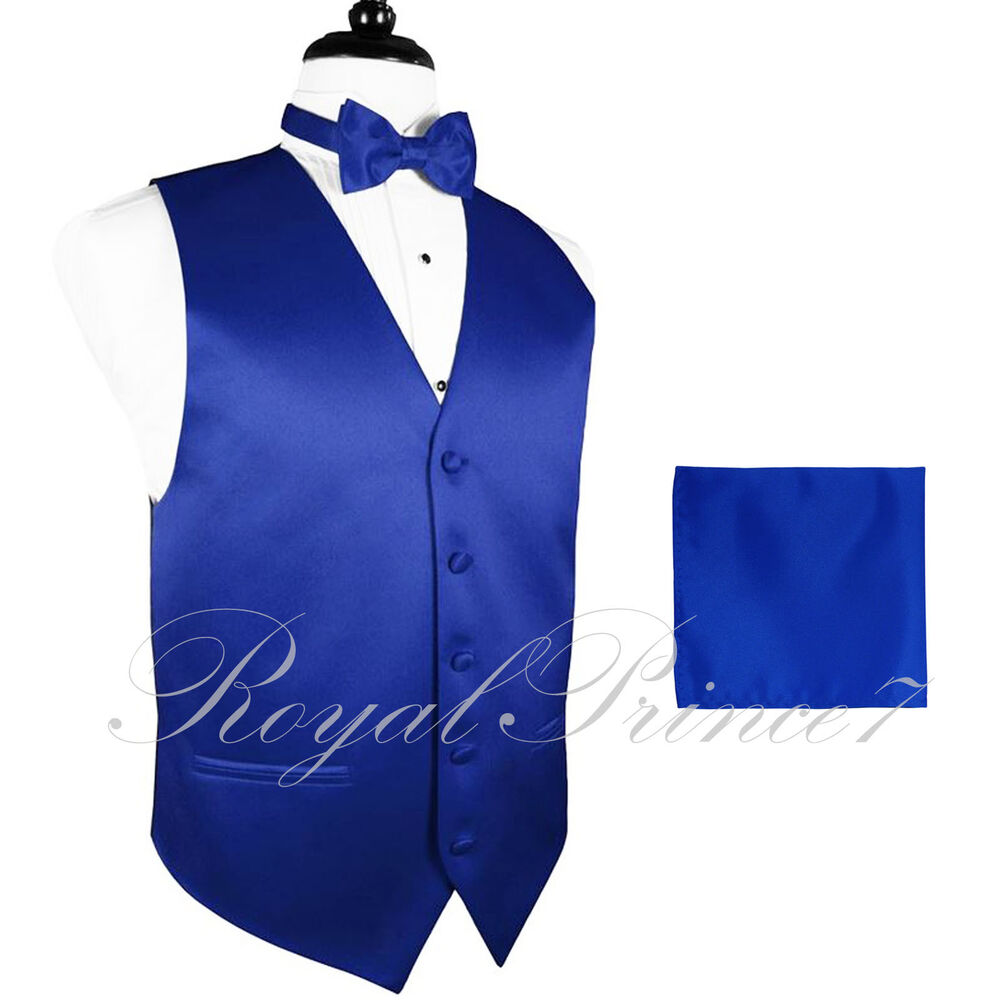 10 i royal blue vest waistcoat and butterfly bow tie set suit or tuxedo wedding ebay. Black Bedroom Furniture Sets. Home Design Ideas