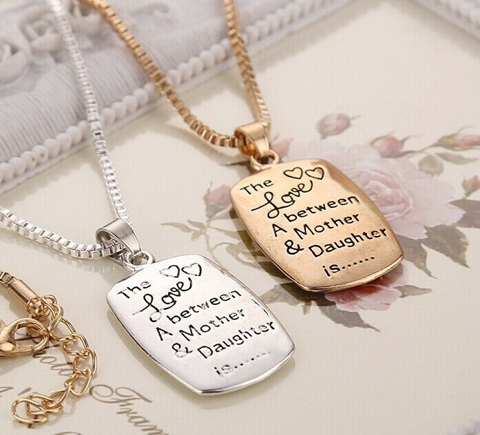 wholesale mom daughter necklace the love between a mother. Black Bedroom Furniture Sets. Home Design Ideas