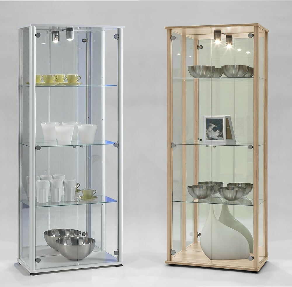 'Bora-3' Floor Standing Glass & Wood Display Or Trophy