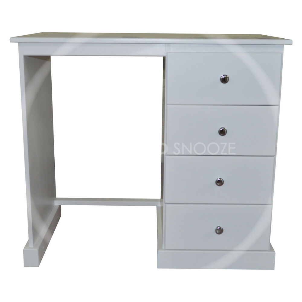 Hand made cambridge 4 drawer dressing table assembled ebay for Made dressing table