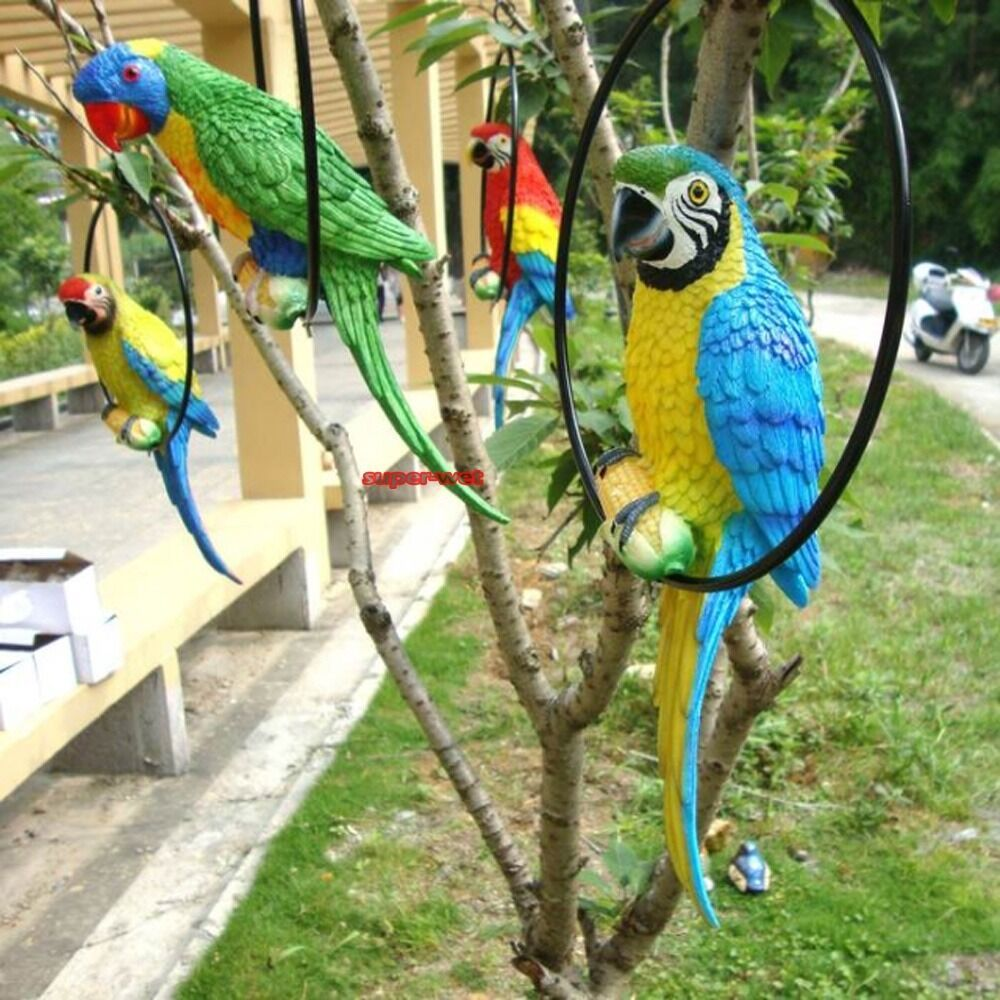 Fake artificial parrot bird realistic home decor parakeet for Artificial birds for decoration