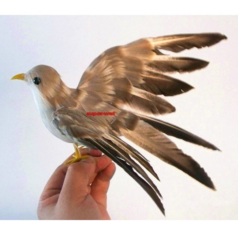 Fake artificial bird sparrow realistic imitation home for Artificial birds for decoration