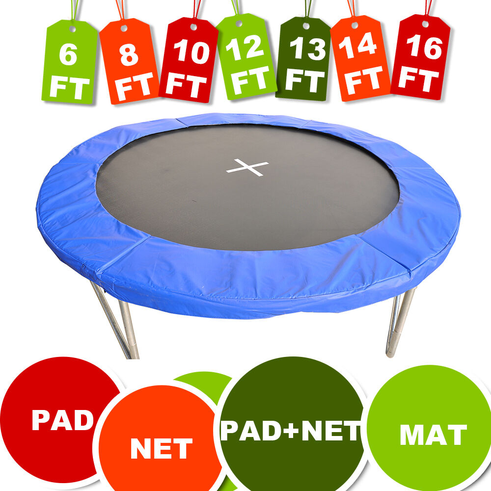 10 12 14 15 Trampoline Replacement Pad Pading Safety Net: Trampoline Safety Net Enclosure Surround Padding Pad 6ft