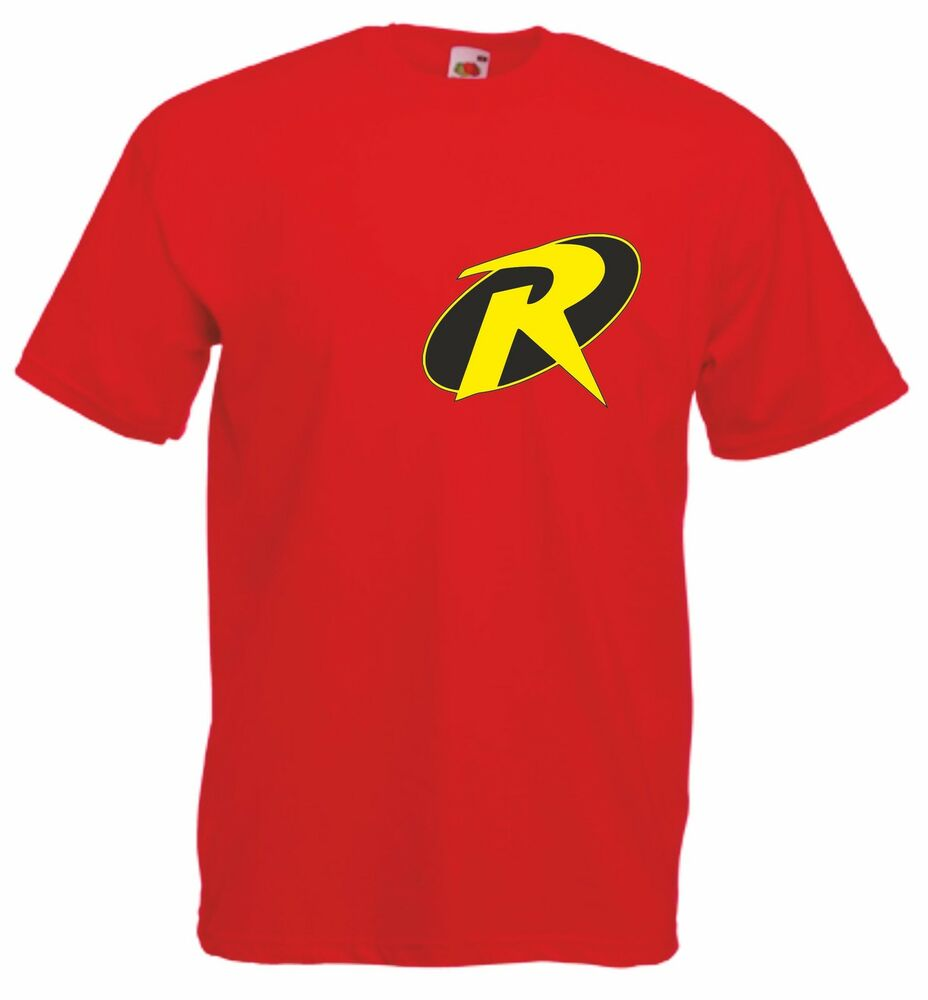 Robin Batman 39 S Sidekick Men 39 S Red Cotton Crew Neck T Shirt