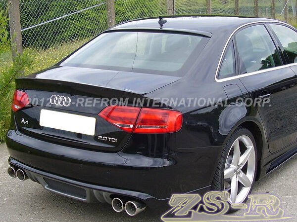 2009 2012 audi a4 b8 quattro painted your color trunk lip. Black Bedroom Furniture Sets. Home Design Ideas