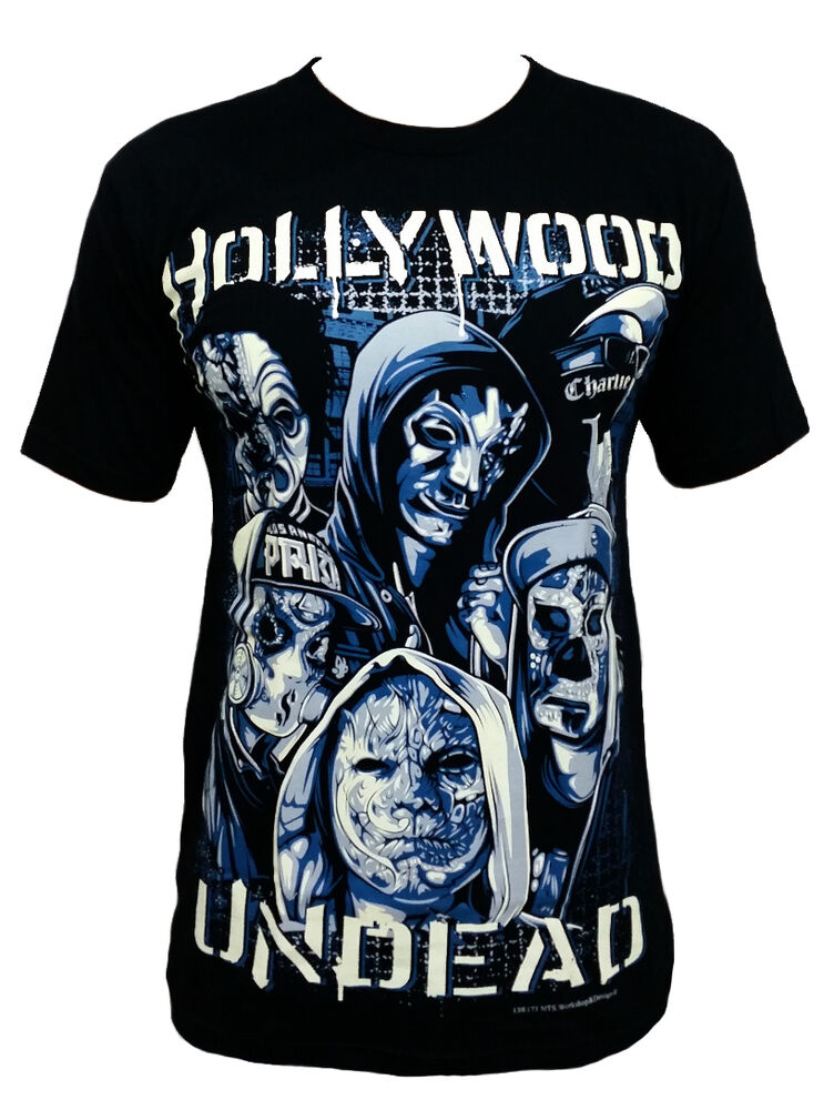 hollywood undead skull t shirts rock band 100 cotton. Black Bedroom Furniture Sets. Home Design Ideas
