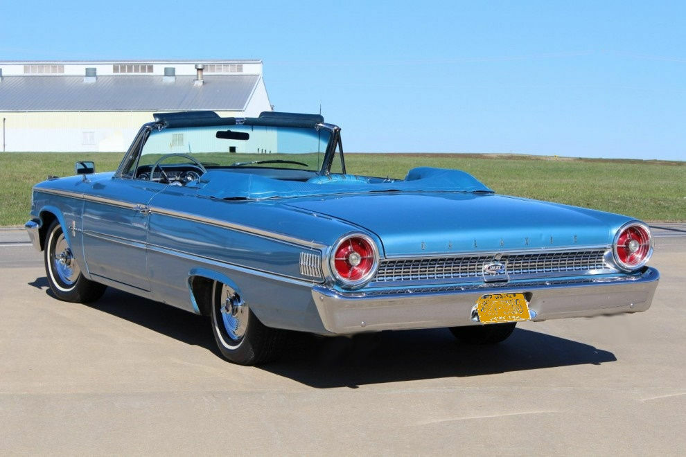 1963 ford galaxie 500 convertible blue refrigerator. Black Bedroom Furniture Sets. Home Design Ideas