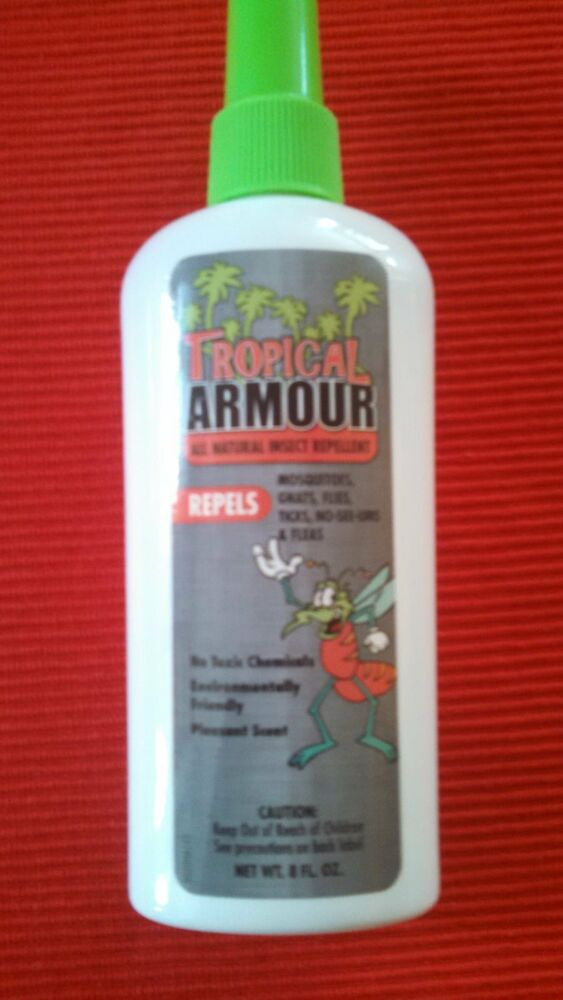tropical armour 8 oz all natural insect repellent mosquitoes gnats ticks flea ebay. Black Bedroom Furniture Sets. Home Design Ideas