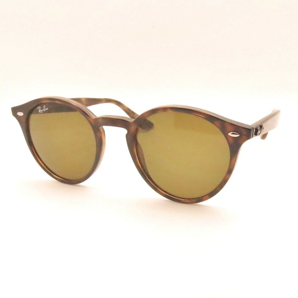 ray ban havana spotted round sunglasses  ray ban rb 2180 new 51mm 710/73 dark havana brown sunglasses authentic