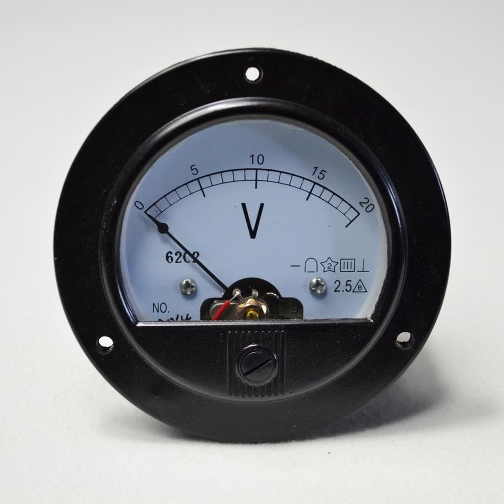 L De Voltage Meter : High quality round analog volt panel meter dc v ebay