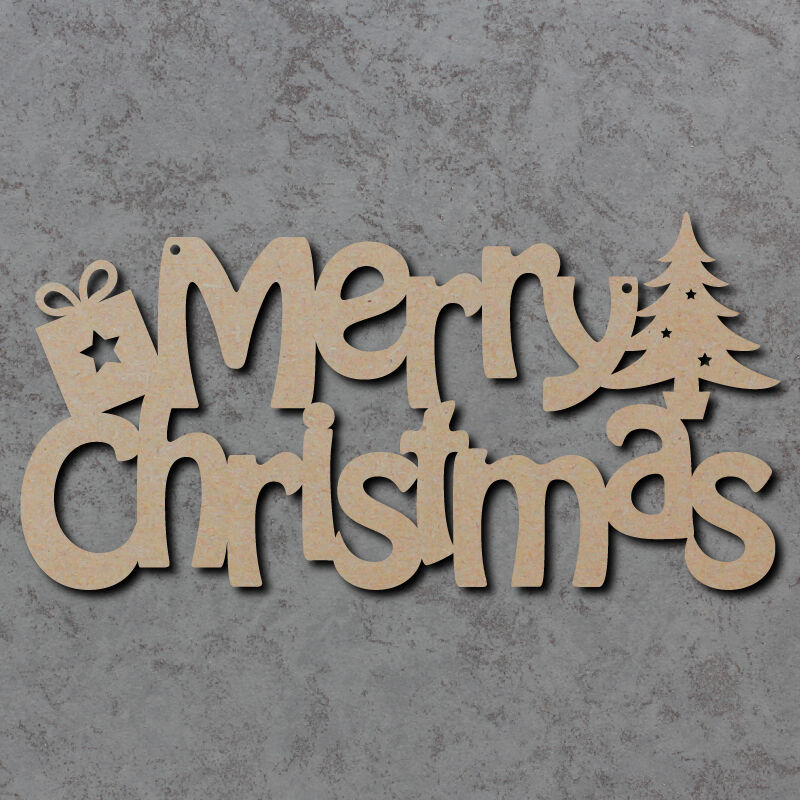 Wooden Christmas Craft Shapes