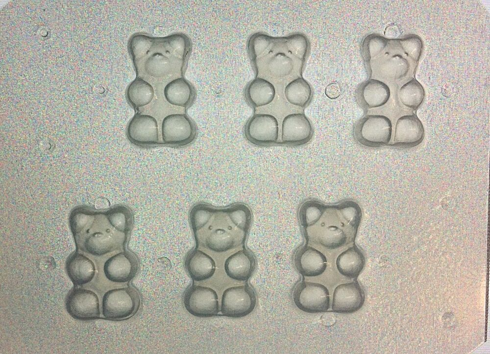 Flexible resin mold small gummy bears set of 6 ebay - What to do about mold ...