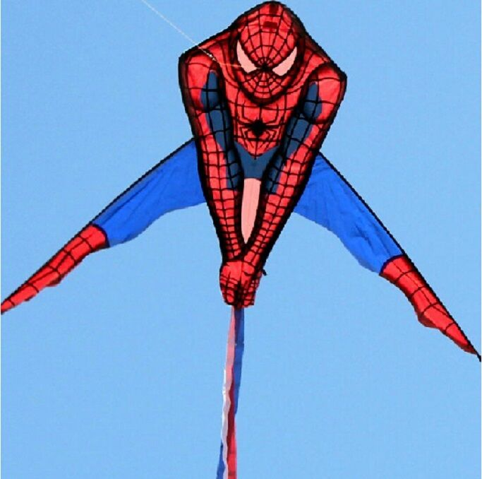 Cool Toys That Fly : Spiderman kite huge wide d super cool easy flying toy out