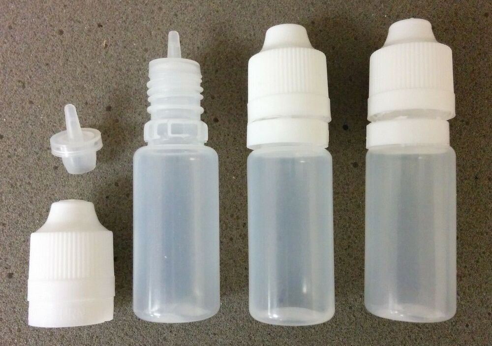 10ml Empty Plastic Squeeze Dropper Bottles W Tamper Child